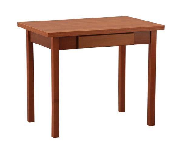 Стол обеденный раскладной прямая ножка с ящиком