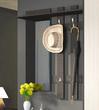 Вешалка с крючками и зеркалом Арт