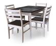 Стол обеденный раздвижной (овальная крышка) + 4 стула Массив