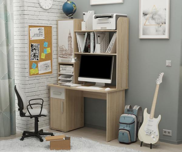 Лайт-1 Стол компьютерный 1200 + Надстройка