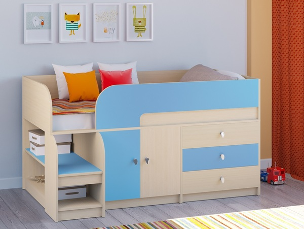 Двухъярусная кровать Астра-9 Дуб молочный V1