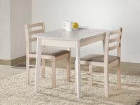 Стол обеденный раздвижной (овальная крышка) + 2 стула массив полумягкий