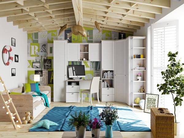 Ривьера ГН-241.103 Набор мебели для детской комнаты №3 / Ривьера ГН-241.105