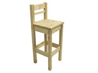 Барный стул с высокой спинкой