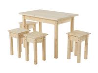 Стол со столешницей 600х1000х28 + Табурет 300х300х450 (4 шт)