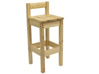 Барный стул с низкой спинкой