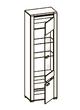 Бруна Б-2 шкаф со стеклом