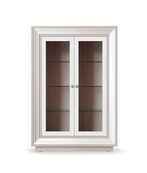Шкаф 2-х дверный низкий (2 стеклодвери) Прато