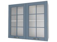 Шкаф 2 двери со стеклом 80 см Палермо
