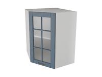 Шкаф угловой трапеция 1 дверь со стеклом 55 см Палермо