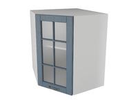 Шкаф угловой трапеция 1 дверь со стеклом 60 см Палермо
