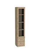 Шкаф-витрина Мерлен 220 узкий с ящиками