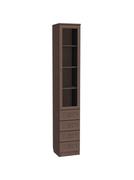 Шкаф-витрина Мерлен 205 узкий с ящиками