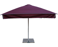 Зонт Митек 2.5х2.5 м с воланом (стальной каркас с подставкой, стойка 50мм, 4 спицы 25х25мм, тент OXF 300D)