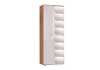 Шкаф 2-х створчатый Флай, дуб сонома/белый глянец