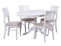 Стол Амадей + 4 стула Лион