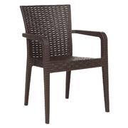 Кресло пластиковое Alberta DEL/ALB-R/ARM/W