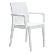 Кресло пластиковое Siena DEL/SIE-R/ARM/F/WH