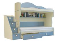 Кровать 2-х этаж + тахта Радуга