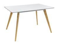 Стол обеденный FRANK 120*80, белый на дер. Ножках Z-239