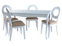 Кабриоль стол + 4 стула Коломбо
