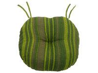 Подушка-сидушка хлопок набивной круглая с завязками с имитацией пуговиц