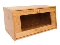 Хлебница с прозрач дверцей 38,5*22*19см, бамбук BRAVO