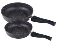 Набор посуды Casta Avrora. Комплект: Сковорода 22см, глубокая со съёмной ручкой. Сковорода 28см, глубокая со съёмной ручкой